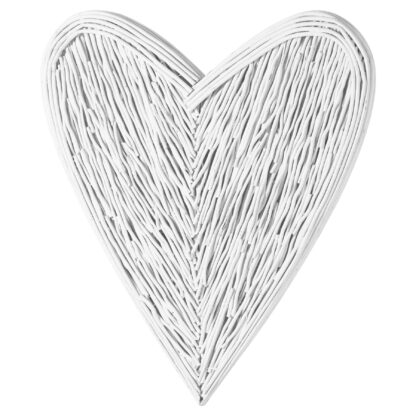 Large White Willow Branch Heart