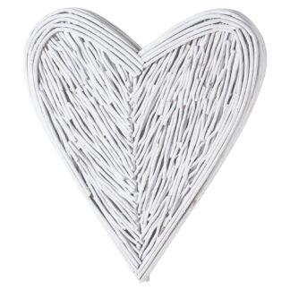 Small White Willow Branch Heart