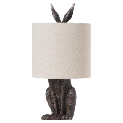 Hare Table Lamp With Linen Shade