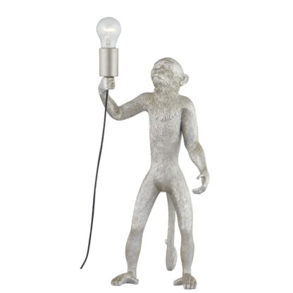 Chip The Monkey Standing Silver Table Lamp