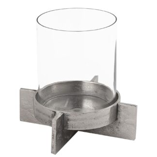 Farrah Collection Silver Large Candle Holder