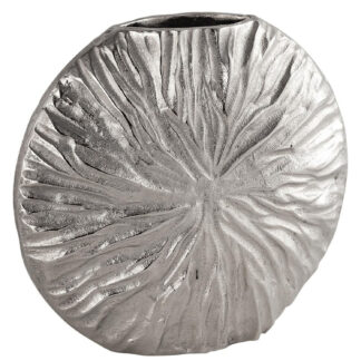 Farrah Collection Silver Textured Large Vase