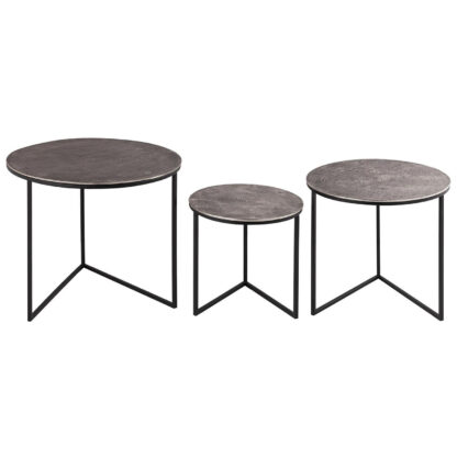 Farrah Collection Set of Three Round Tables