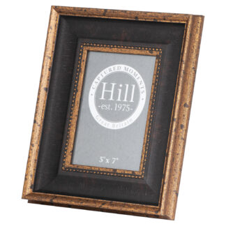 Black And Antique Gold Beaded 5X7 Photo Frame
