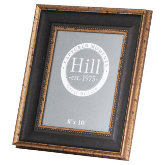 Black And Antique Gold Beaded  8X10 Photo Frame
