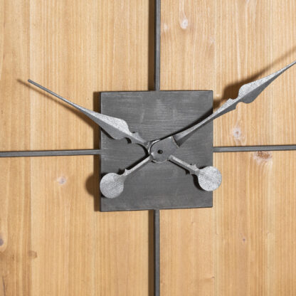 Williston Square Large Wooden Wall Clock