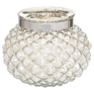The Lustre Collection Silver Small Combe Candle Holder