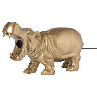 Hetty The Hippo Gold Table Lamp
