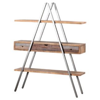 Reclaimed Industrial Bookcase With Drawers