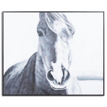 Hand Painted  Horse Painting In Frame