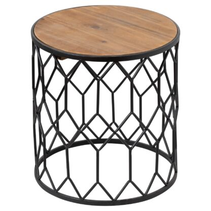 Set Of Three Honeycomb Side Tables